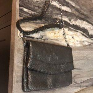 Dark gray purse w chain strap